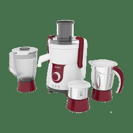 Philips 700 Watts 3 Jars Juicer Mixer Grinder (HL7715/00, Pistil Red/White)_1