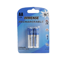 Immense 2300 mAh AA Rechargeable Battery (Blue/Silver)_1