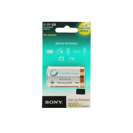 Sony 2000 mAh AA Rechargeable Battery (White) (Pack of 2)_1