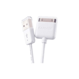 Capdase 150 cm USB (Type-A) to 30 Pin USB Sync and Charge Cable (White)_1