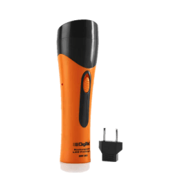 Uniross Digitek 6 LED Rechargeable Torch (Orange/Black)_1
