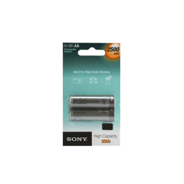 Sony 2500 mAh AA Rechargeable Battery (NH AA B2E AE, Grey) (Pack of 2)_1