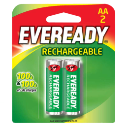 Eveready AA Rechargeable Battery (Green) (Pack of 2)_1