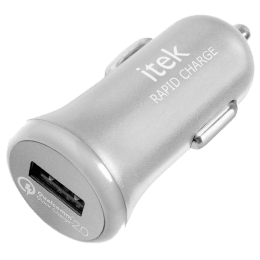 itek Rapid Charge Single USB Car Charger (CCH003_SL, Silver)_1