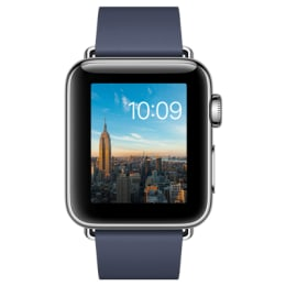 Apple Watch Series 2 38mm Stainless Steel Case with Midnight Blue Modern Buckle Small_1