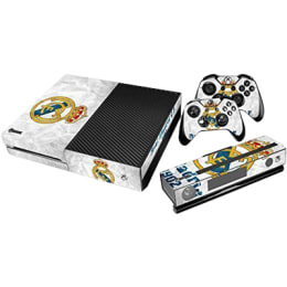 Elton CR7 Real Madrid Theme Skin Sticker Cover for Microsoft Xbox One Console/Kinect and Controllers (EL00078, White/Black)_1