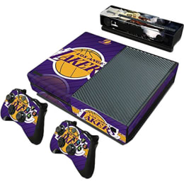 Elton Basketball NBA Theme Skin Sticker Cover for Microsoft Xbox One Console/Kinect and Controllers (EL00071, Purple)_1