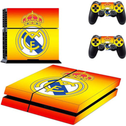 Elton CR7 Real Madrid Dawning Skin Sticker Cover for Sony PS4 Console and Controllers (EL00062, Red/Yellow)_1