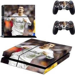 Elton CR7 Cristiano Ronaldo Theme Skin Sticker Cover for Sony PS4 Console and Controllers (EL00064, Multi Color)_1