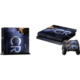 Elton CR7 Real Madrid CF Theme Skin Sticker Cover for Sony PS4 Console and Controllers (EL00059, Navy Blue)_1