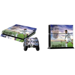 Elton CR7 Real Madrid Theme Skin Sticker Cover for Sony PS4 Console and Controllers (EL00057, Multi Color)_1