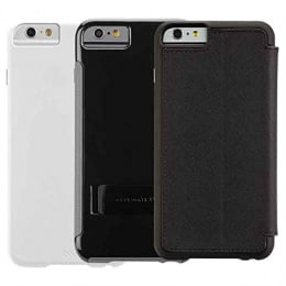 Case-Mate PU Leather Tri-Combo Flip Case Cover for Apple iPhone 6/6S (TRSONE6PLUS-B/W, Multicolor)_1