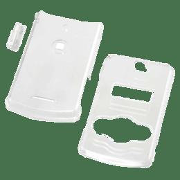 Sony Ericsson Xperia Snap On Rubberized Plastic Back Case Cover (White Shine)_1