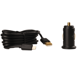 Hama 2.4 Amp Car Charger and Lightning Cable (108995, Black)_1