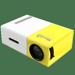 Merlin LCD PRJ HD Projector (20 Lumens, USB 2.0 + HDMI, Palm Sized Projector, White/Yellow)_1