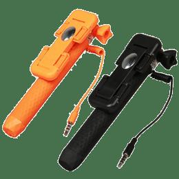 Ultraprolink Micropad Wired Selfie Stick (Black/Orange)_1