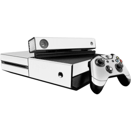 Elton Pure White Theme Skin Sticker Cover for Microsoft Xbox One Console/Kinect and Controllers (EL00076)_1