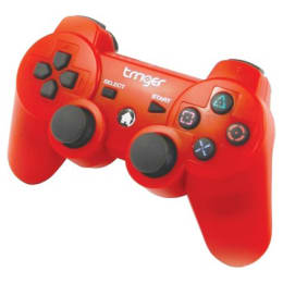 Trriger Wireless Controller Gamepad for Sony PS3 (Red)_1