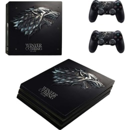 Elton Winter is Coming 2 Skin Sticker Cover for Microsoft Xbox One Console/Kinect and Controllers (EL000103, Black)_1