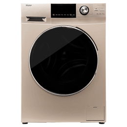Haier 7 kg Fully Automatic Front Loading Washing Machine (HW70-BD12636GNZP, Champagne Gold)_1
