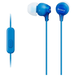 Sony In-Ear Wired Earphones with Mic (MDR-EX15AP/L, Blue)_1