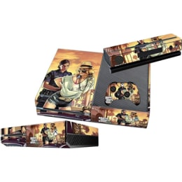 Elton Grand Theft Auto V Theme Skin Sticker Cover for Microsoft Xbox One Console/Kinect and Controllers (EL00079, Multi Color)_1
