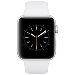 Apple Watch Series 1 42mm Silver Aluminium Case with White Sport Band_1