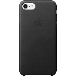 Apple iPhone 7 Leather Back Case Cover (MMY52ZM/A, Black)_1