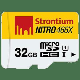 Strontium Nitro 32 GB MicroSD Memory Card (SRN32GTFU1C, Yellow/White)_1