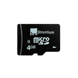 Strontium 4GB Class 4 MicroSD Memory Card (SR4GTFC6R, Black)_1