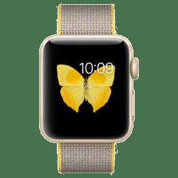 Apple Watch Series 2 Smartwatch (GPS, 38mm) (Ambient Light Sensor, MNP32HN/A, Gold/Light Grey, Woven Nylon Band)_1