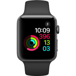 Apple Watch Series 2 42mm Space Grey Aluminium Case with Black Sport Band_1