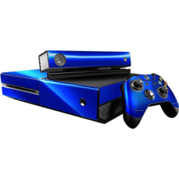 Elton Carbon Fiber Theme Skin Sticker Cover for Microsoft Xbox One Console/Kinect and Controllers (EL00077, Blue)_1