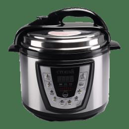 Croma 900 Watt 5 Litres Electric Digital Pressure Cooker (YBW50-90, Black)_1