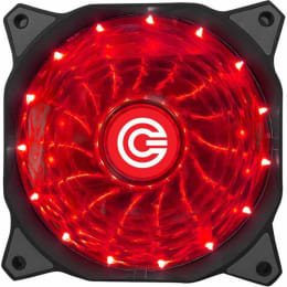 Circle USB Wired 4 LED 59.6 CFM Gaming Fan (CG 16XR, Red)_1