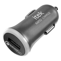 itek Rapid Charge Single USB Car Charger (CCH003_CH, Grey)_1