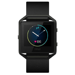 Fitbit Blaze Small Smartwatch (GPS) (OLED Glass, FB502SBUS, Black, Rubber Band)_1