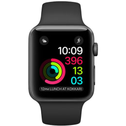 Apple Watch Series 1 42mm Space Grey Aluminium Case with Black Sport Band_1