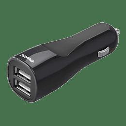 Hama 4.8 Amp 2-Port USB Car Charger (14148, Black)_1