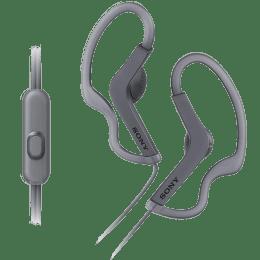 Sony Sports In-Ear Wired Earphones with Mic (MDRAS210AP, Black)_1