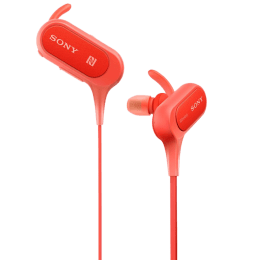 Sony Bluetooth Earphones (MDR-XB50BSRZE, Red)_1