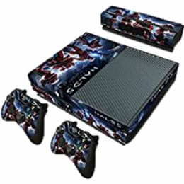 Elton Halo 5 Guardians Theme Skin Sticker Cover for Microsoft Xbox One Console/Kinect and Controllers (EL00094, Blue)_1