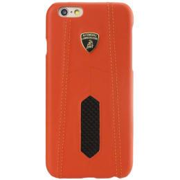 Lamborghini Aventador D2 Carbon Fiber Back Case Cover for Apple iPhone 6/6S (SW-130, Orange)_1