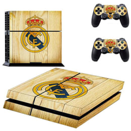Elton Real Madrid Wood Theme Skin Sticker Cover for Sony PS4 Console and Controllers (EL00063, Brown)_1