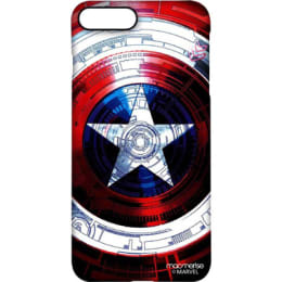 Macmerise Captains Shield Decoded Polycarbonate Back Case Cover for Apple iPhone 7 Plus (IPC7PPMM0050, Red/Blue)_1