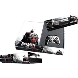 Elton Batman Arkham City Theme Skin Sticker Cover for Microsoft Xbox One Console/Kinect and Controllers (EL00083, Black)_1