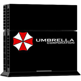Elton Resident Evil Umbrella Corporation Theme Skin Sticker Cover for Sony PS4 Console and Controllers (EL00066, Black/White)_1