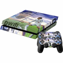 Elton Real Madrid Cristiano Ronaldo Theme Skin Sticker Cover for Sony PS4 Console and Controllers (EL00056, Multi Color)_1