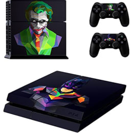 Elton Batman Joker Theme Skin Sticker Cover for Sony PS4 Console and Controllers (EL00054, Multi Color)_1