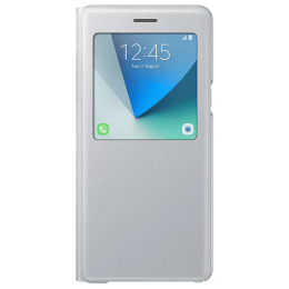 Samsung Galaxy Note 7 S-view Flip Case Cover with Stand (EF-CN930PSEGIN, Silver)_1
